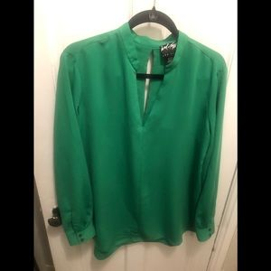 Lord & Taylor Green Blouse